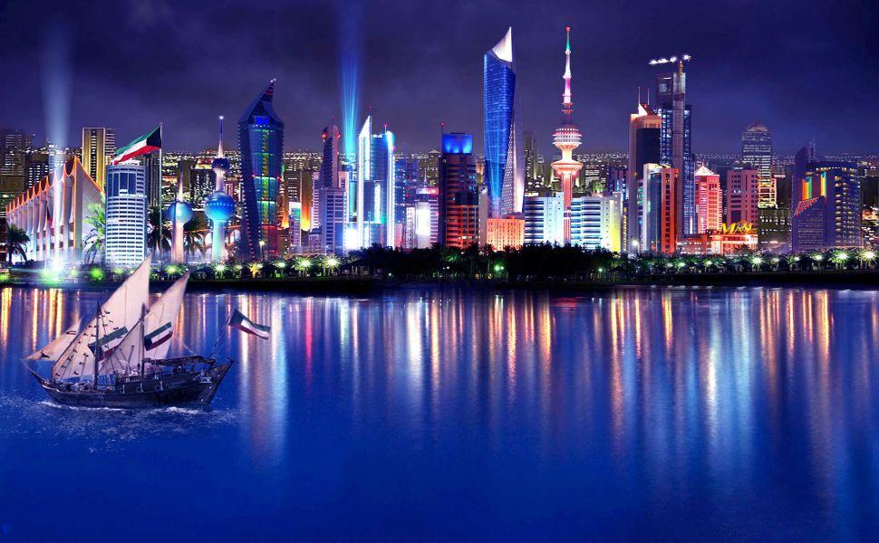 kuwait night lights